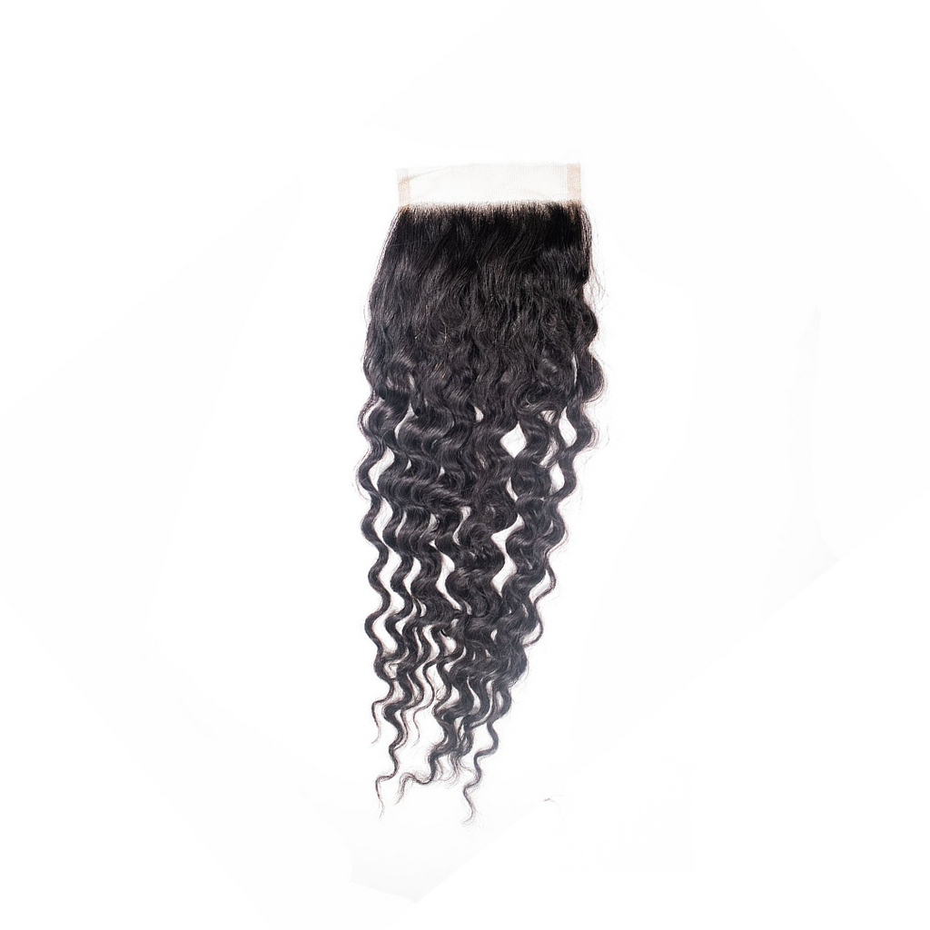 Crown Jewels Brazilian Pineapple Wave 4x4 Lace Closure