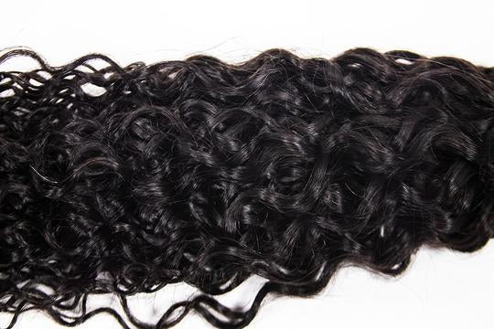 Crown Jewels Natural Bohemian Curl 3 Bundles w/ 13x4 Lace Frontal