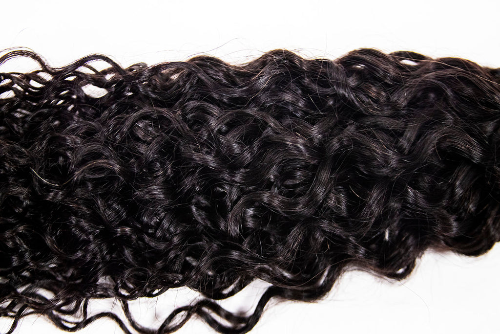 Crown Jewels Natural Bohemian Curl 3 Bundles w/ 4x4 Lace Closure