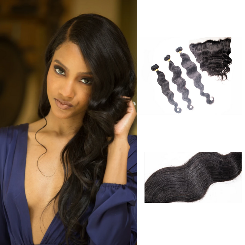 Crown Jewels Brazilian Body Wave 3 Bundles w/ 13x4 Lace Frontal