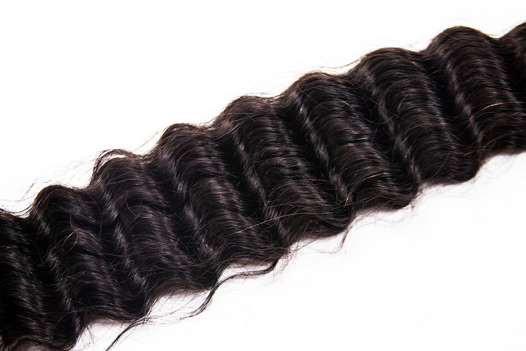 Crown Jewels Brazilian Pineapple Wave 3 Bundles w/ 4x4 Lace Closure