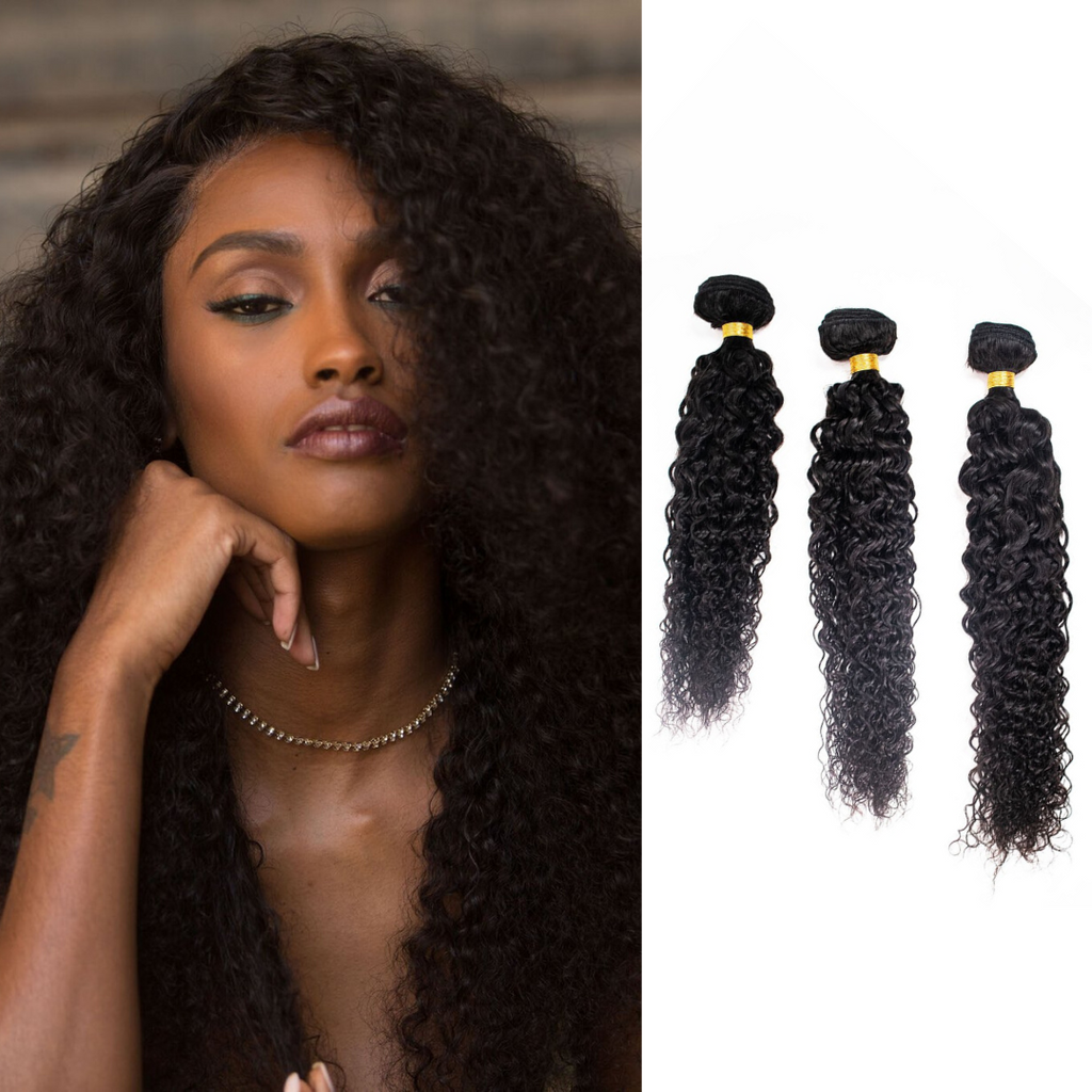 Crown Jewels Natural Bohemian Curl 3 Bundles