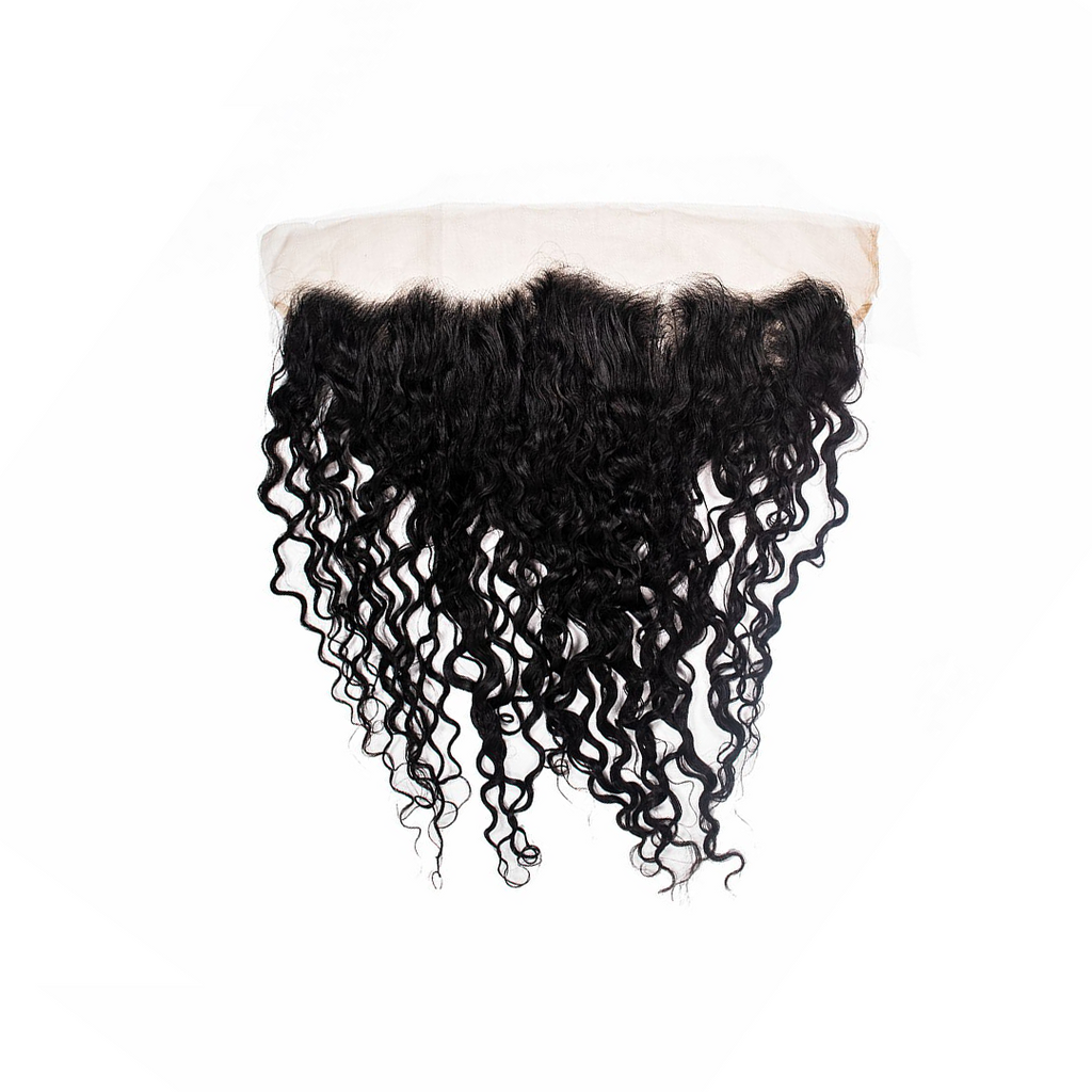Crown Jewels Natural Bohemian Curl 13x4 Lace Frontal Closure