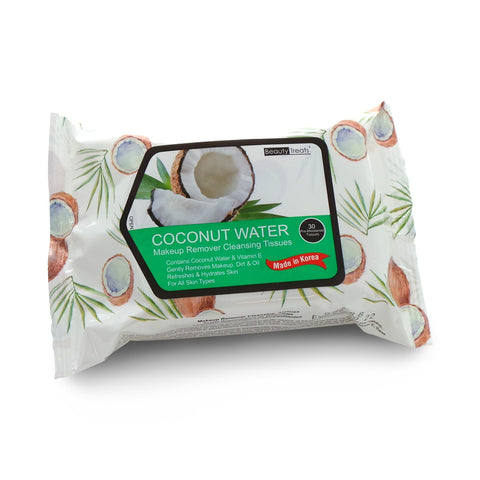 BEAUTY TREATS Coconut Water Makeup Remover Cleaning Tissues