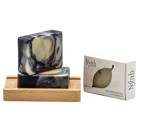NYAH BEAUTY Black Amber Linen Soap