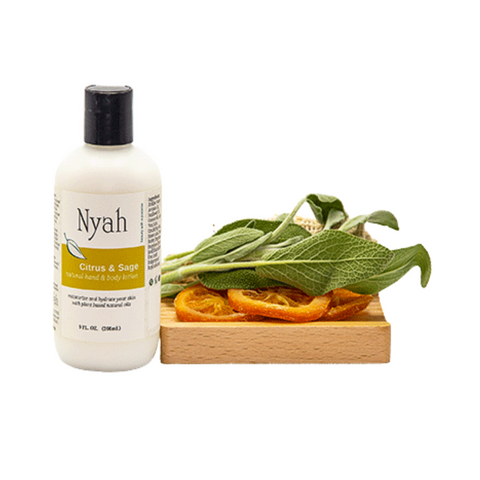 NYAH BEAUTY Natural Hand & Body Lotion- Citrus & Sage