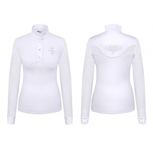 Wedstrijdshirt Cecile Long Sleeve Dames Wit