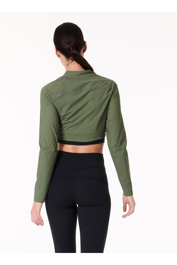 Perf Zip Long Sleeve