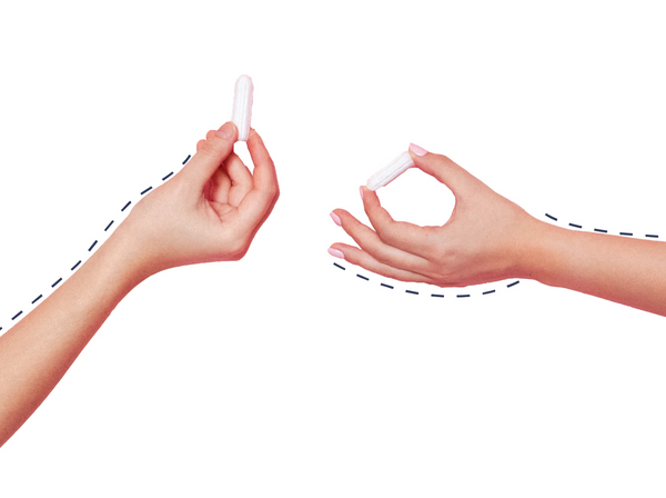 How to Use Non-Applicator Tampons