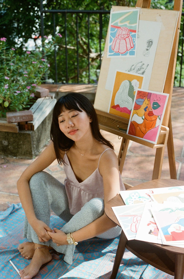 """I feel more inspired to create around my period"" - Ellie Suh, Illustrator & Art Director"