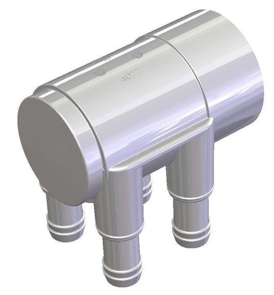 Manifold Water 4 Port - 19mm x 50mm (Plugged End)