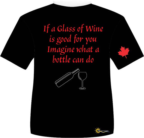 "T-shirt ""Glass of wine"""