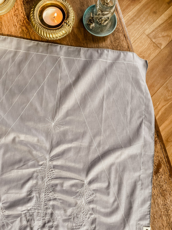 Furoshiki - COLLECTION NOËL 2020 - GRIS SAPIN ÉTOILÉ