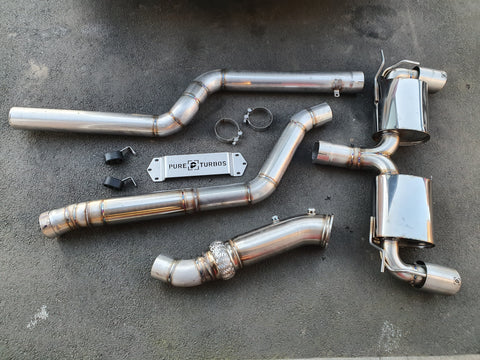 "Williams Performance BMW M140I 3.5"" Turbo Back Catless PERFORMANCE EXHAUST SYSTEM"