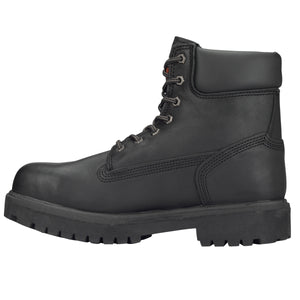 "TIMBERLAND PRO MEN'S DIRECT ATTACH 6"" STEEL TOE BOOTS"