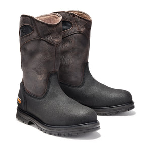 TIMBERLAND PRO MEN'S POWERWELT WELLINGTON STEEL TOE WORK BOOTS