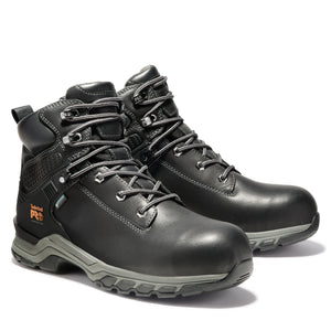 "TIMBERLAND PRO MEN'S HYPERCHARGE 6"" COMPOSITE TOE WORK BOOTS"