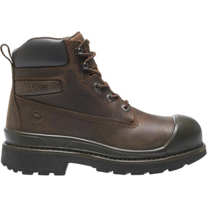 "WOLVERINE MEN'S CRAWFORD WATERPROOF 6"" STEEL-TOE WORK BOOT"