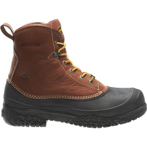 "WOLVERINE MEN'S SWAMPMONSTER WATERPROOF STEEL TOE 6"" WORK BOOT"