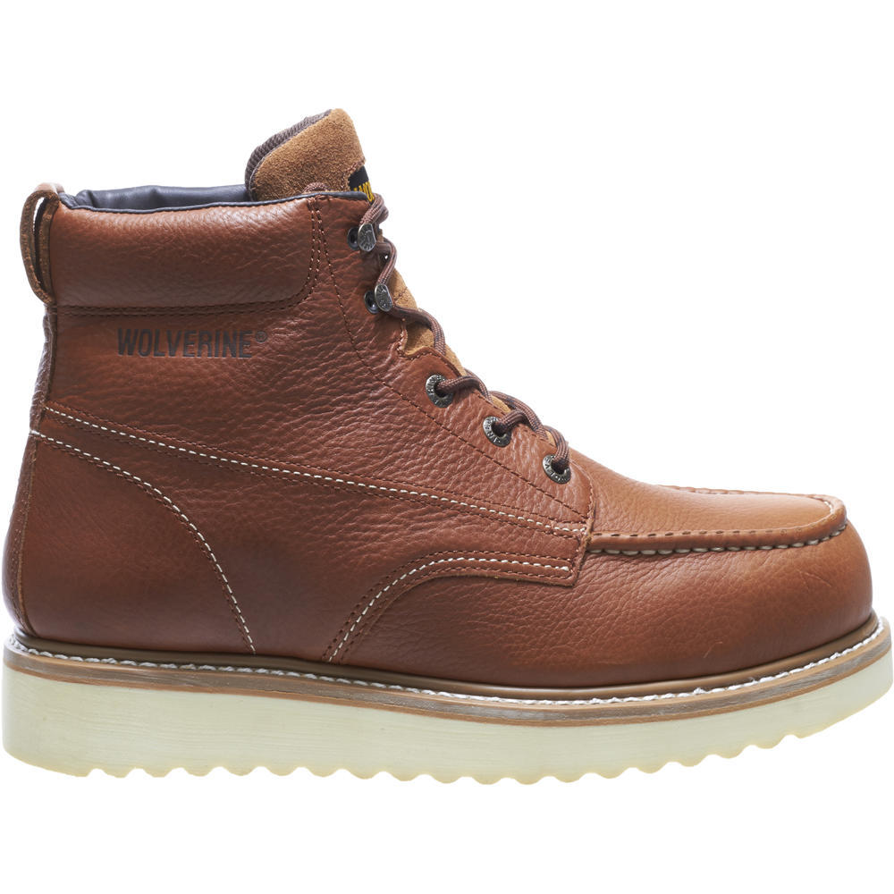 WOLVERINE MEN'S MOC-TOE STEEL-TOE EH 6