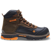 "Load image into Gallery viewer, WOLVERINE MEN'S OVERPASS WATERPROOF PLUS CARBONMAX COMPOSITE TOE 6"" WORK BOOT"