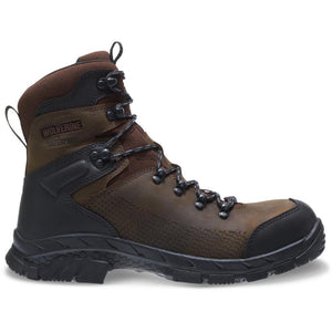 "WOLVERINE MEN'S GLACIER XTREME INSULATED WATERPROOF CARBONMAX COMPOSITE TOE 8"" BOOT"