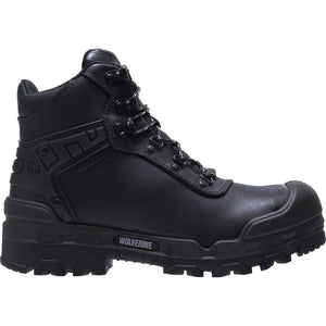 "WOLVERINE MEN'S WARRIOR WATERPROOF CARBONMAX SAFETY TOE 6"" WORK BOOT"