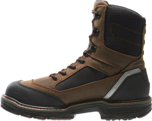 "WOLVERINE MEN'S OVERMAN WATERPROOF CARBONMAX COMPOSITE TOE 8"" WORK BOOT"