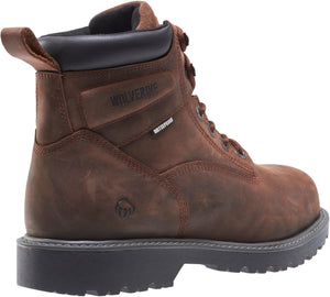 "WOLVERINE MEN'S FLOORHAND WATERPROOF STEEL-TOE 6"" WORK BOOT"