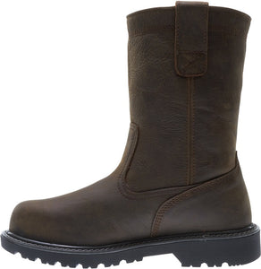 "WOLVERINE MEN'S FLOORHAND WATERPROOF STEEL-TOE 10"" WELLINGTON WORK BOOT"