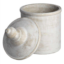 Load image into Gallery viewer, Large Antique Stone Cannister - Ivy&Bee-Interiors