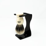 Acrylic Shaving Brush and Razor Stand (Double)