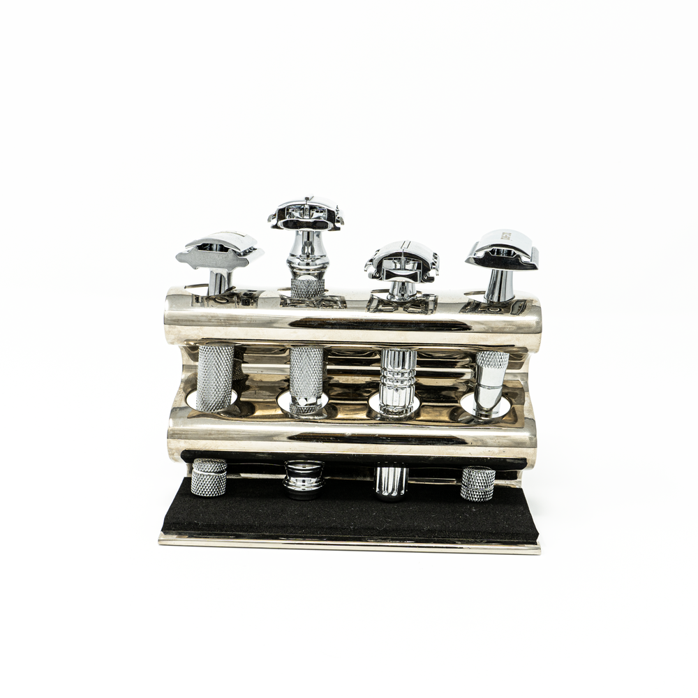 Parker 4 Razors Stand in Chrome