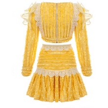 Load image into Gallery viewer, Yellow two piece skirt set - The Bikini Studio
