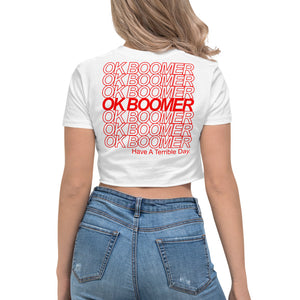OK BOOMER™ Women's Crop