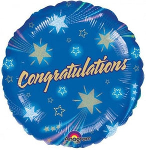 "18"" CONGRATULATIONS BLUE BALLOON"