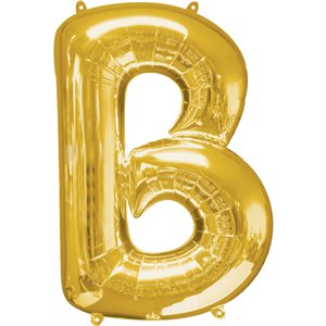 "16"" Foil Letter B - Gold Packaged Air Fill (ANAGRAM)"