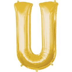 "33"" SHAPE FOIL LETTER U - GOLD (ANAGRAM)"