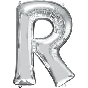 "16"" Foil Letter R - Silver Packaged Air Fill (ANAGRAM)"