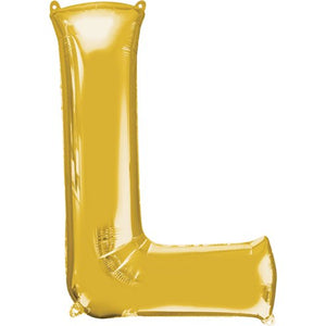 "16"" Foil Letter L - Gold Packaged Air Fill (ANAGRAM)"