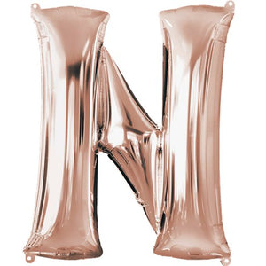 "16"" Foil Letter N - Rose Gold Packaged Air Fill (ANAGRAM)"