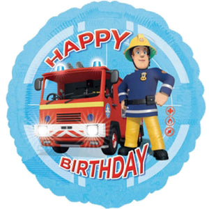18 INCH FIREMAN SAM HAPPY BIRTHDAY FOIL BALLOON