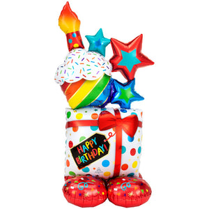 55 INCH BIRTHDAY ICONS AIRLOONZ FOIL BALLOON