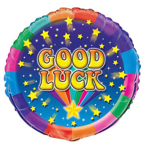 "18""  GOOD LUCK COLORFUL STARS"