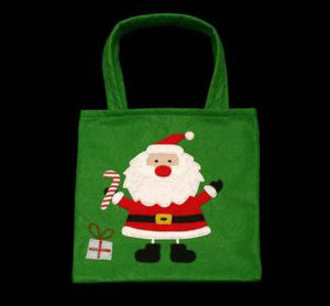 CHRISTMAS SANTA FELT GIFT TREAT BAG