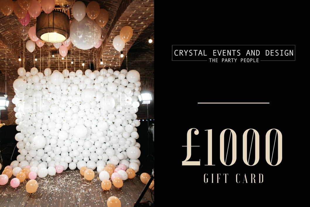 £1000 Digital Gift Card