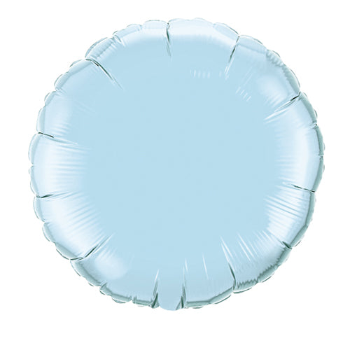 18'' PACKAGED ROUND BABY BLUE FOIL BALLOON