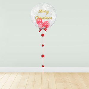 Present Print - Red Balloon Filled Christmas Package