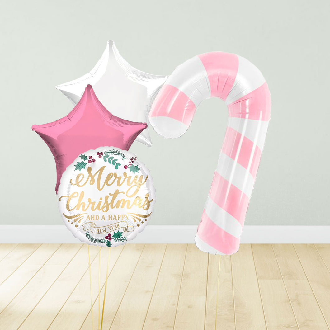 Pink Candy Cane Xmas Package