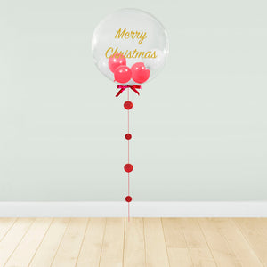 Red Balloon Filled Christmas Package